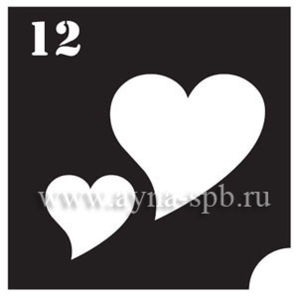 Трафарет для блеск тату №12