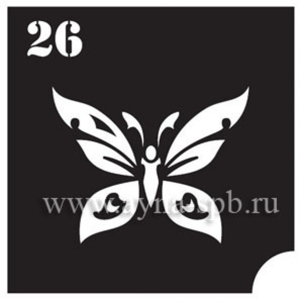 Трафарет для блеск тату №26
