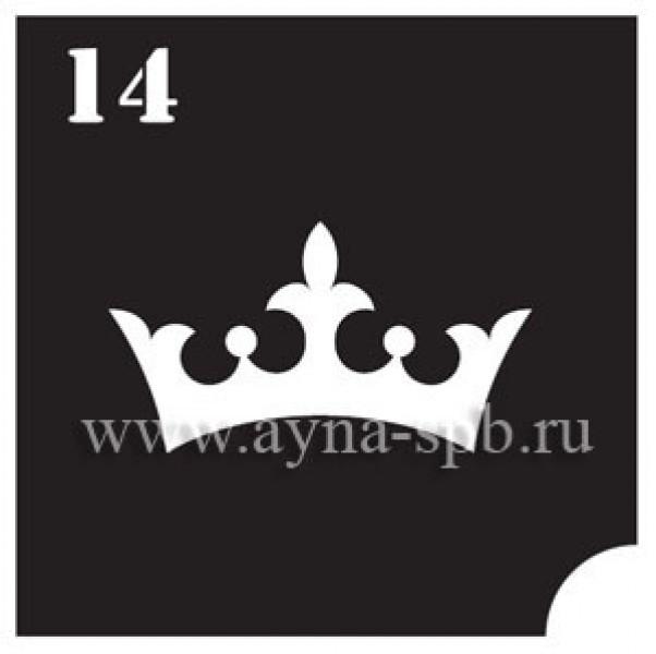 Трафарет для блеск тату №14